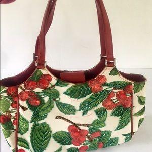 Isabella Fiore beaded cherry bag